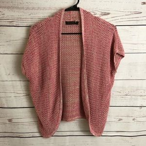 The Limited Pink Open Knit Cardigan Sweater